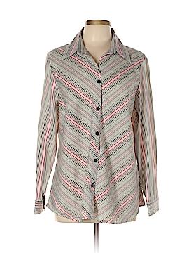 Selene Sport Long Sleeve Button-Down Shirt Size L