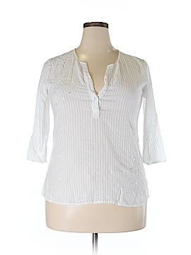 Palm Island 3/4 Sleeve Blouse Size 14