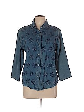 Tantrums 3/4 Sleeve Button-Down Shirt Size L