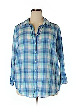 3J Workshop 3/4 Sleeve Button-Down Shirt Size 2X (Plus)