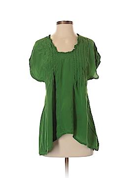 Lie Short Sleeve Silk Top Size 2