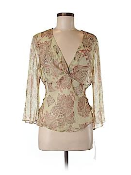 Sunny Leigh 3/4 Sleeve Silk Top Size M