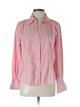 Dialogue Long Sleeve Button-Down Shirt Size 14