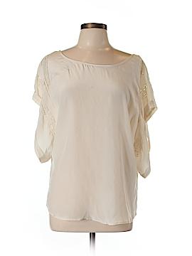 Chelsea Flower Short Sleeve Silk Top Size L