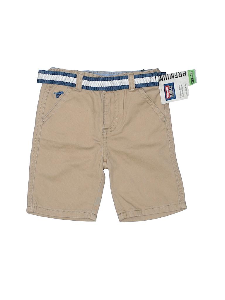 eaffd687 Wrangler Jeans Co 100% Cotton Solid Tan Khaki Shorts Size 3T - 57 ...