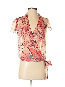 Diane von Furstenberg Short Sleeve Silk Top Size 4