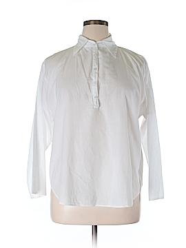 John Eshaya Long Sleeve Button-Down Shirt Size 0S (Plus)