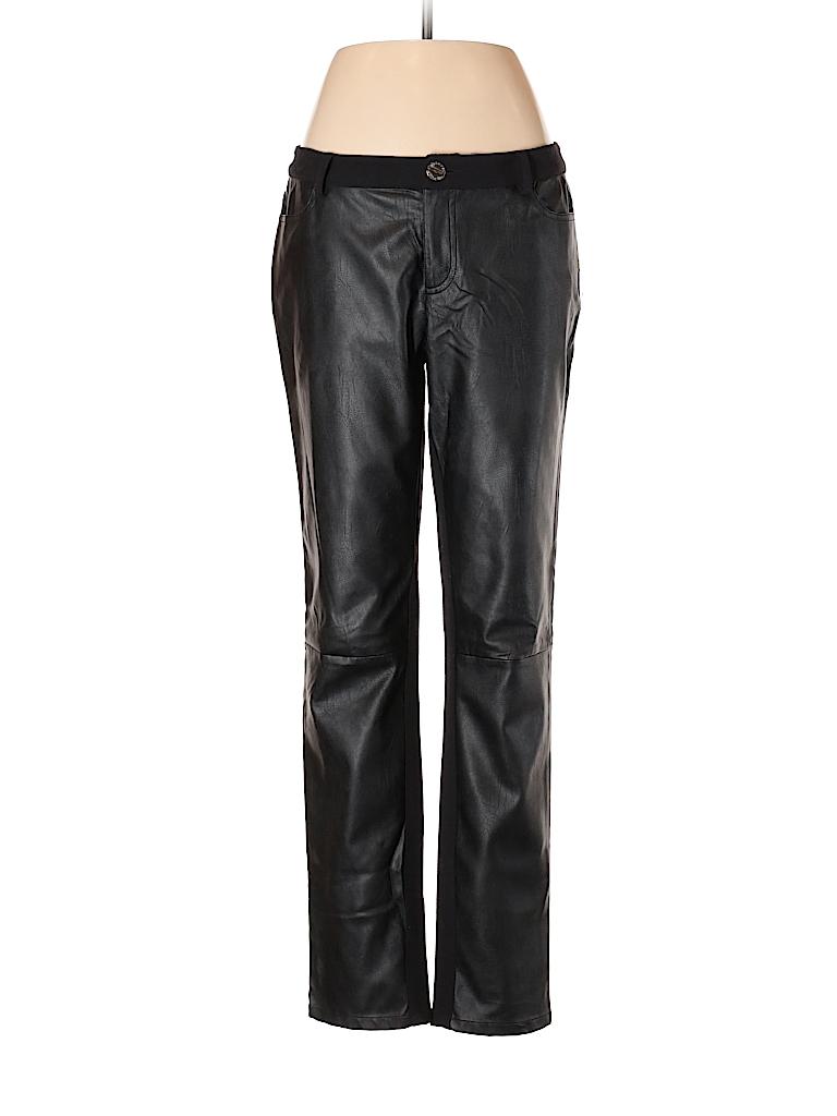 13e675c19720 MICHAEL Michael Kors 100% Polyurethane Solid Black Faux Leather ...