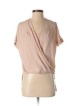 Joan Vass Short Sleeve Blouse Size XS