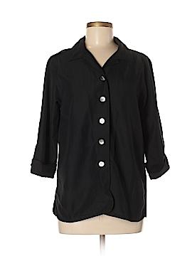 Caribbean Joe 3/4 Sleeve Button-Down Shirt Size M
