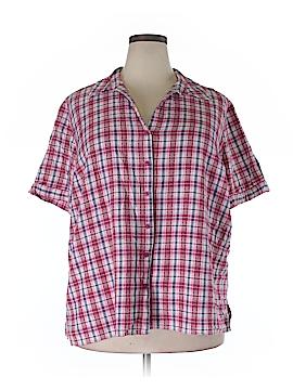 Liz & Me Short Sleeve Button-Down Shirt Size 2X (Plus)