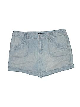 French Cuff Denim Shorts Size 14