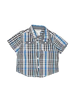 Toughskins Short Sleeve Button-Down Shirt Size 18 mo