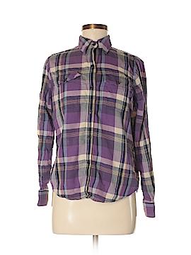 Chaps Long Sleeve Button-Down Shirt Size M (Petite)