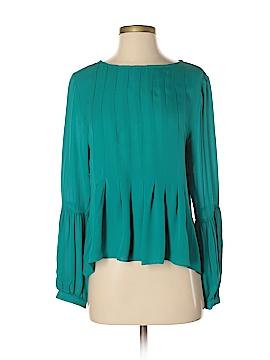 Nicole Miller Long Sleeve Silk Top Size S
