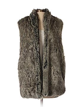 French Connection Faux Fur Vest Size 2