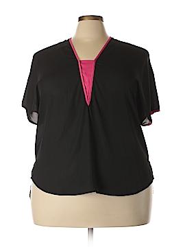 Landa Curve By Dora Landa Short Sleeve Blouse Size 2X (Plus)