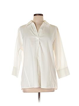 Foxcroft 3/4 Sleeve Button-Down Shirt Size 14w