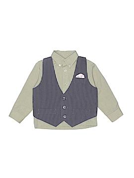 Happy Fella Long Sleeve Button-Down Shirt Size 3T