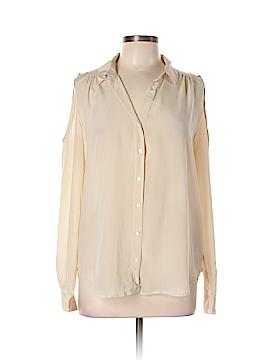 Sparkle & Fade Long Sleeve Silk Top Size L