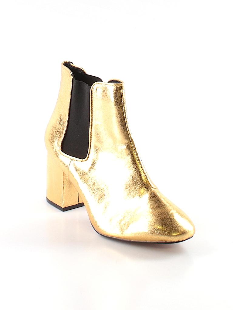 H M Metallic Gold Ankle Boots Size 39 (EU) - 62% off  3da10ee7a