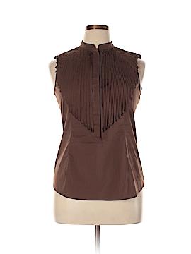 BCBGMAXAZRIA Sleeveless Button-Down Shirt Size L