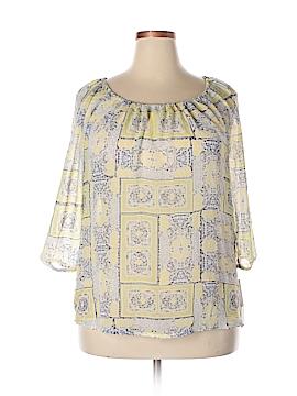 Daisy Fuentes 3/4 Sleeve Blouse Size XL