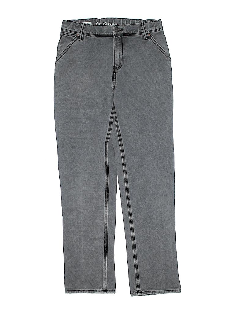 87e0c6d9b Gap Kids 100% Cotton Solid Gray Jeans Size 14 - 90% off