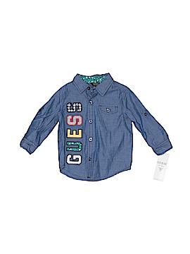 Guess Long Sleeve Button-Down Shirt Size 18 mo