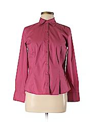 Van Heusen Women Long Sleeve Button-Down Shirt Size S