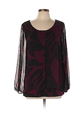 Alfani Long Sleeve Blouse Size L
