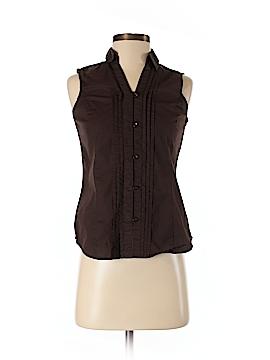 G.H. Bass & Co. Sleeveless Button-Down Shirt Size XS