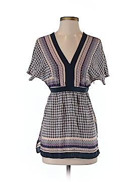 Meadow Rue Short Sleeve Silk Top Size XS