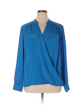 INC International Concepts Long Sleeve Blouse Size 16W