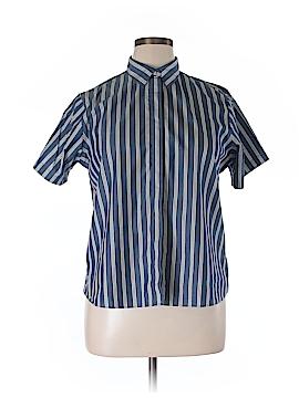 Lands' End Short Sleeve Button-Down Shirt Size 16 (Petite)