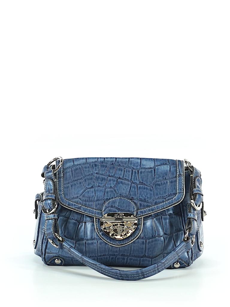822faa60091 Kathy Van Zeeland Solid Dark Blue Shoulder Bag One Size - 90% off ...