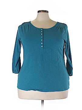 St. John's Bay 3/4 Sleeve Top Size 2X (Plus)