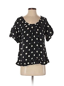 Aqua Short Sleeve Silk Top Size XS
