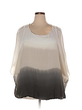 Alfani Short Sleeve Blouse Size 3X (Plus)