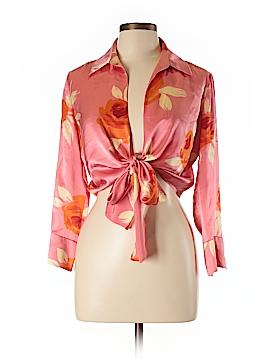 Linda Allard Ellen Tracy Long Sleeve Silk Top Size 10 (Petite)