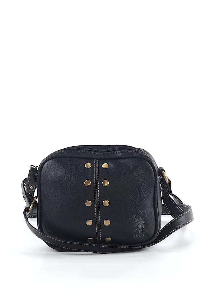 3292f2df0a U.S. Polo Assn. Solid Black Crossbody Bag One Size - 88% off