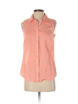 Croft & Barrow Sleeveless Button-Down Shirt Size XS