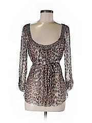Elie Tahari Women 3/4 Sleeve Silk Top Size S
