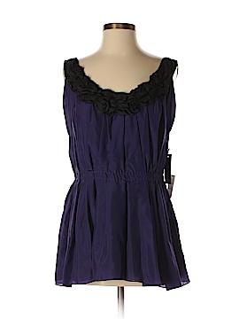 Vera Wang Sleeveless Silk Top Size 8