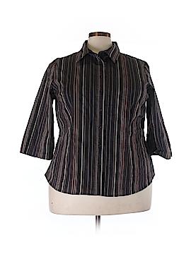 Apt. 9 3/4 Sleeve Button-Down Shirt Size 2X (Plus)