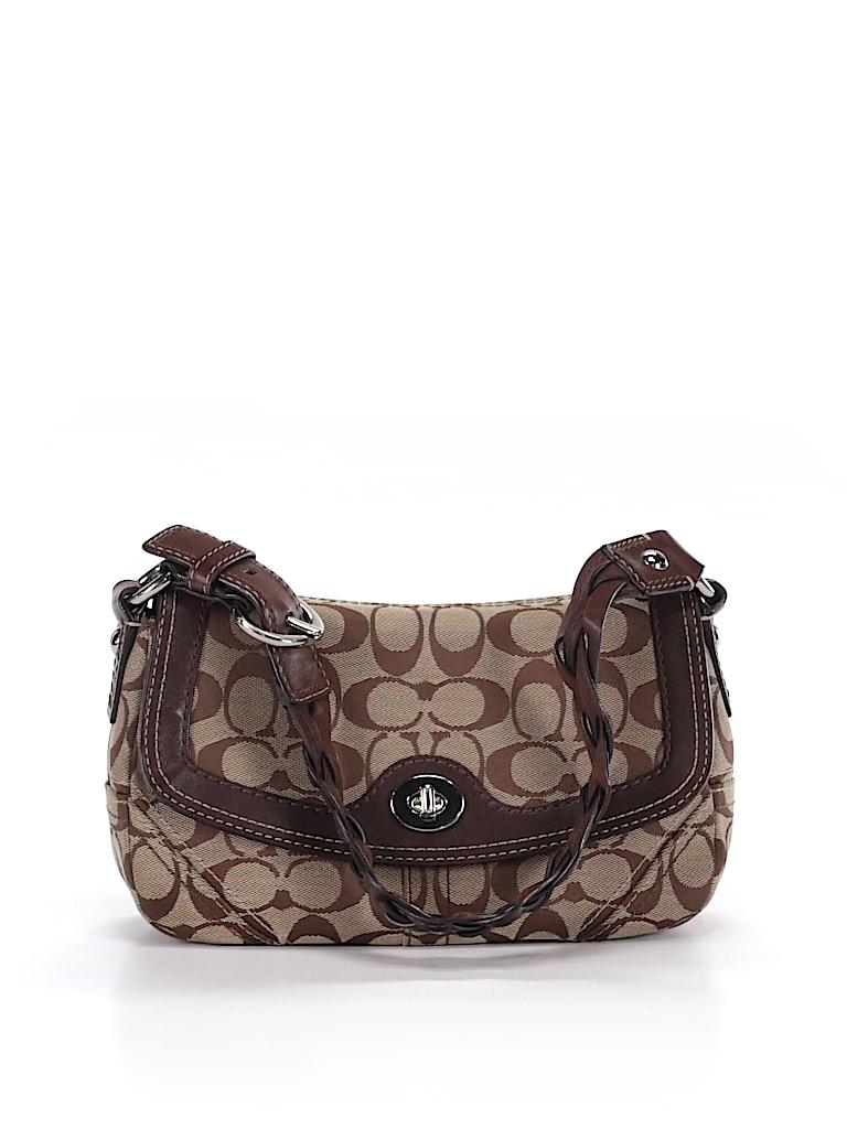 d8fc056aab36 Coach Print Brown Shoulder Bag One Size - 85% off