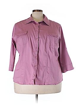 Apt. 9 Long Sleeve Button-Down Shirt Size 3X (Plus)