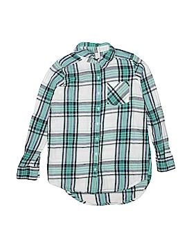 Girl Krazy Long Sleeve Button-Down Shirt Size 10