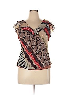 Rouge Short Sleeve Blouse Size L