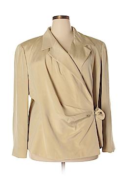 Linda Allard Ellen Tracy Silk Blazer Size 24 (Plus)